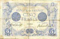 France 5 Francs Bleu - 02-07-1915 Série S.6526 - B+