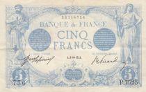France 5 Francs Bleu - 09-01-1913 - Série P.1525 - TTB+