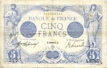 France 5 Francs Bleu - 13-11-1915 Série A.8785 - TTB