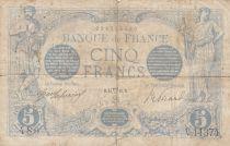 France 5 Francs bleu - 14-04-1916 - Serial V.11374