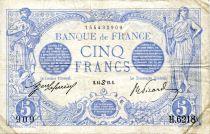 France 5 Francs Bleu - 14-06-1915 Série H.6218 - TTB