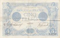 France 5 Francs Bleu - 15-07-1915 Série E.6739