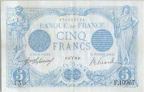 France 5 Francs Bleu - 22-03-1916 Série F.10967 TTB