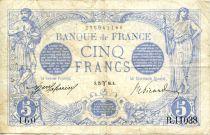 France 5 Francs Bleu - 25-03-1916 Série R.11038 - TTB