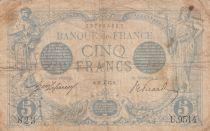 France 5 Francs Bleu - 27-12-1915 Série U.9514 - B