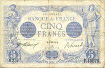 France 5 Francs Bleu - 29-01-1916 Série F.10076 - TB