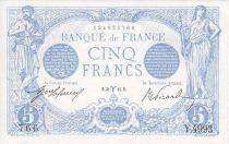 France 5 Francs Bleu - 31-03-1915 Série Y.4993
