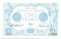France 5 Francs Bleu - Aout 1916