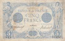 France 5 Francs Bleu -05-08-1916 Série O.14245
