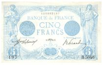 France 5 Francs Blue - 02-04-1915 Serial H.5040 - VF to XF