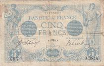 France 5 Francs Blue - 07-10-1913 Serial A.2844 - F