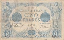 France 5 Francs Blue - 14-04-1913 Serial J.2006 - F to VF
