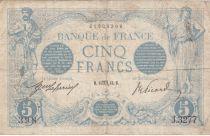 France 5 Francs Blue - 14-10-1913 Serial J.3277 - F