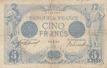 France 5 Francs Blue - 16-12-1912 Serial Z.1413 -  F