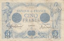 France 5 Francs Blue - 20-01-1912 Serial F.51 -  VG