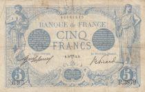 France 5 Francs Blue - 20-04-1914 Serial P.3879 - F
