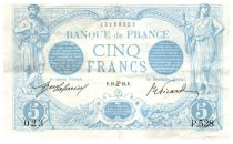 France 5 Francs Blue - 21-06-1912 Serial P.528 - VF