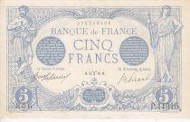 France 5 Francs Blue - March 1916