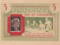 France 5 Francs Bon de Solidarité - 1941-1942