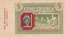 France 5 Francs Bon de Solidarité - 1941-1942