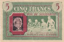 France 5 Francs Bon de Solidarité French family 1941-1942 - VF