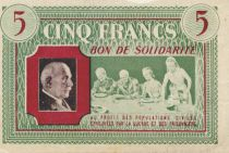 France 5 Francs Bon de Solidarité French family 1941-1942 - VF