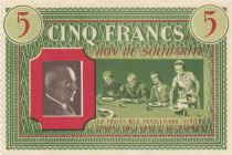 France 5 Francs Bon de Solidarité French family 1941-1942 - XF