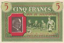 France 5 Francs Bon de Solidarité Repas de Famille 1941-1942 - SUP
