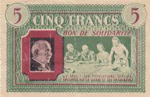 France 5 Francs Bon de Solidarité Repas de Famille 1941-1942 - TTB
