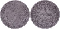 France 5 Francs Ceres - 1849 A Paris - Silver - F to VF