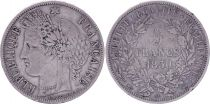 France 5 Francs Cèrès - 1850 A Paris - Argent - TB+