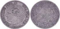France 5 Francs Ceres - 1850 A Paris - Silver - F to VF