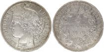 France 5 Francs Ceres - 1870 A Paris - A Silver