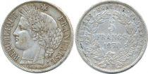 France 5 Francs Cérès - 3ème Rép. - 1870-1871 - millésimes et types variés