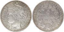 France 5 Francs Cérès - 3ème Rép. - 1870 A Paris - Argent