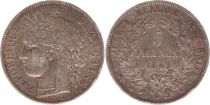 France 5 Francs Céres - Armoires - 1849 A Paris - Argent