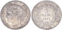 France 5 Francs Céres - II e République 1851 A Paris
