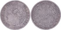 France 5 Francs Ceres IIe Republique - 1851 A Paris - Argent - TB+