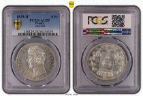 France 5 Francs Charles X - 2nd type - 1829 H La Rochelle - PCGS AU 55