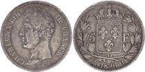 France 5 Francs Charles X - Ier type - 1826 H La Rochelle