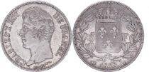 France 5 Francs Charles X - Type 2 - 1828 L Bayonne - F+