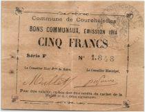 France 5 Francs Courchelettes City - 1914