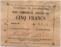 France 5 Francs Courchelettes Commune - 1914