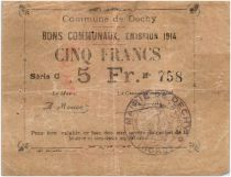 France 5 Francs Dechy Commune - 1914