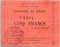 France 5 Francs Dechy Commune
