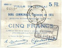 France 5 Francs Douai City - 1914