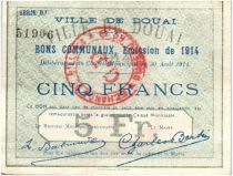 France 5 Francs Douai City - 1914