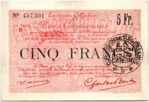 France 5 Francs Douai City - 1916