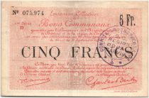 France 5 Francs Douai Commune - 1916