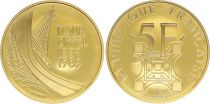 France 5 Francs Eiffel Tower - 1989 - Gold - UNC